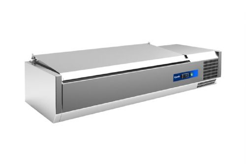 Prodis EC-T15S, 1500mm 6 x 1/3GN Topping Unit With Stainless Steel Lid